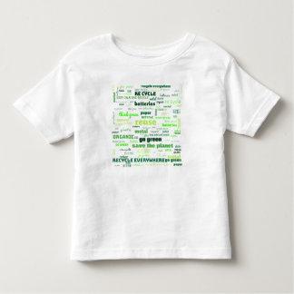 Camiseta De Bebé Reduzca, reutilice, recicle la nube de la palabra