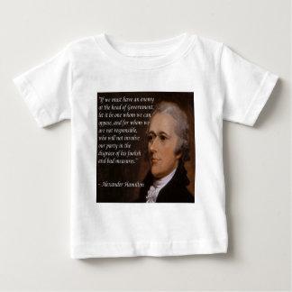 """Camiseta De Bebé Regalo del """"líder enemigo"""" de Alexander Hamilton"""