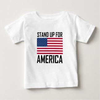 Camiseta De Bebé Represente para arriba himno nacional de la