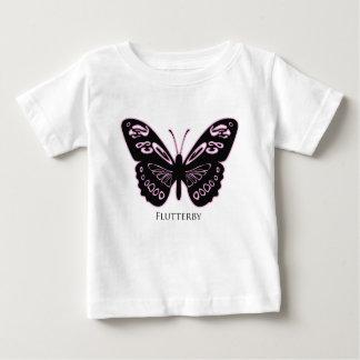 Camiseta De Bebé Resplandor rosado negro de Flutterby