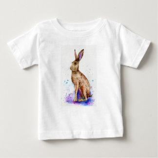 Camiseta De Bebé Retrato de las liebres de la acuarela