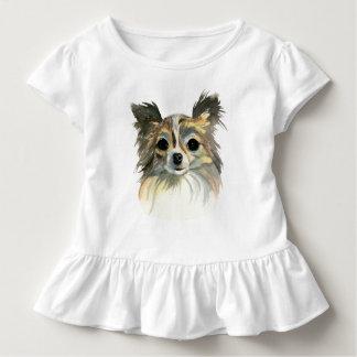 Camiseta De Bebé Retrato largo de la acuarela de la chihuahua del