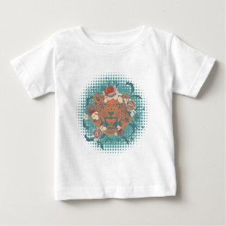 Camiseta De Bebé Retrato ornamental 3 del tigre