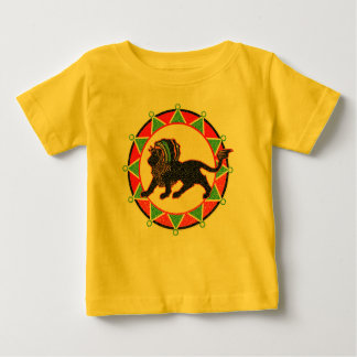 Camiseta De Bebé Rey Rasta Lion Vintage de Jah