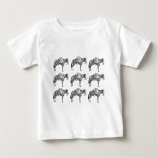 Camiseta De Bebé rezo de la mula del paquete
