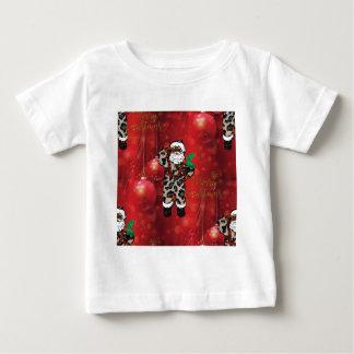 Camiseta De Bebé rojo africano de Claus del leopardo de santa
