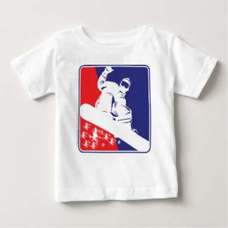 Camiseta De Bebé Rojo-Blanco-y-Azul-Nieve-BoA