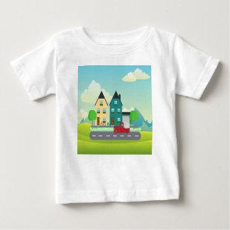 Camiseta De Bebé Rojo coja el camión de la conducción blanca de los