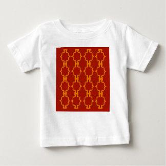 Camiseta De Bebé Rojo del oro de los elementos del diseño