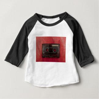 Camiseta De Bebé Rojo del vintage de la música de la cinta de