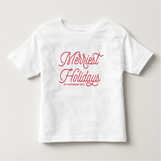 Camiseta De Bebé Rojo la tipografía más feliz de los días de fiesta