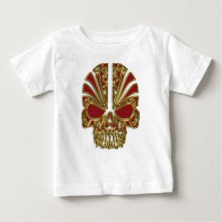 Camiseta De Bebé Rojo y cráneo del cráneo del azúcar del oro