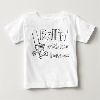 Camiseta De Bebé Rollin con los homies