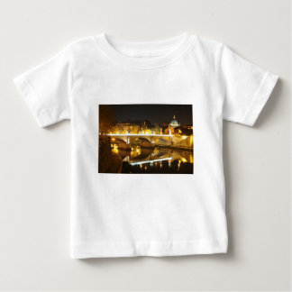 Camiseta De Bebé Roma, Italia en la noche