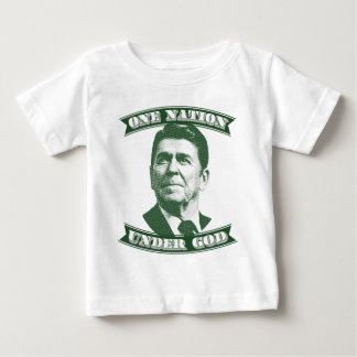 Camiseta De Bebé Ronald Reagan una nación debajo de dios