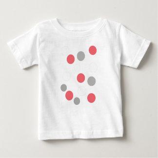 Camiseta De Bebé Rosa del coral del blanco gris del modelo de los