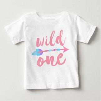 Camiseta De Bebé Rosa salvaje el | Boho el | uno y de la flecha un