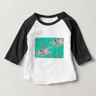 Camiseta De Bebé Rosas y ornamento 3 de las mariposas