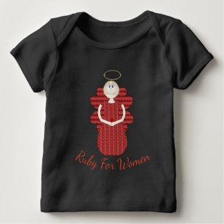 Camiseta De Bebé Rubí para el ángel del rojo de las mujeres