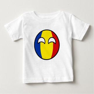 Camiseta De Bebé Rumania Geeky que tiende divertida Countryball