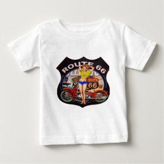 Camiseta De Bebé Ruta 66 de América con una motocicleta