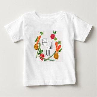 Camiseta De Bebé RVA van diseño fresco del bebé de la granja local