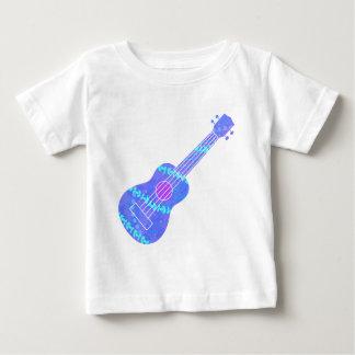 Camiseta De Bebé Salpicón azul de la pintura del Ukulele