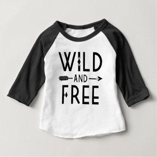 Camiseta De Bebé Salvaje y libre