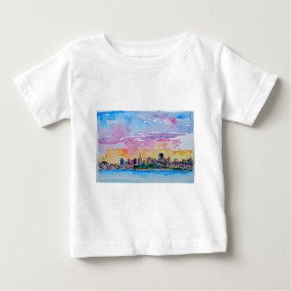 Camiseta De Bebé San Cisco de fra el crepúsculo puesta de sol