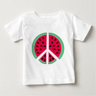 Camiseta De Bebé Sandía de la paz