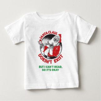 Camiseta De Bebé Santa no hace Existir-Pero no puedo leer, así que