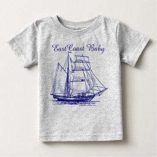Camiseta De Bebé Schooner de la nave del velero del bebé de la