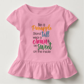 Camiseta De Bebé Sea un desgaste de la piña a la corona y sea