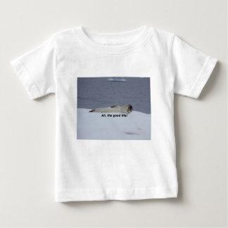"""Camiseta De Bebé Sello perezoso del vago de la playa: ¡""""Ah, la"""