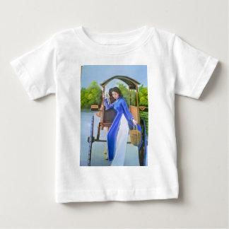 Camiseta De Bebé Señora en azul
