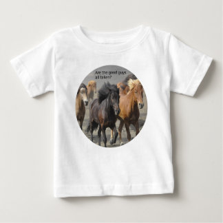 Camiseta De Bebé Señora Horse Gossip: ¿Son los buenos chico tomados