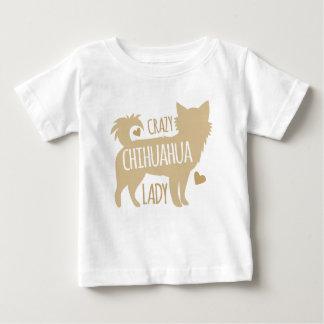 Camiseta De Bebé señora loca de la chihuahua