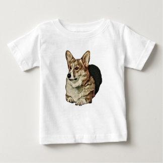 Camiseta De Bebé Sentada tricolora del Corgi Galés