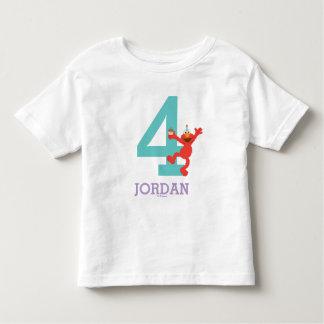 Camiseta De Bebé Sesame Street el | Elmo - 4to cumpleaños del
