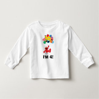 Camiseta De Bebé Sesame Street el | Elmo y cumpleaños de los Pals