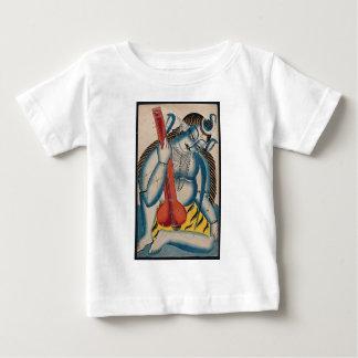 Camiseta De Bebé Shiva intoxicado que sostiene el cordero