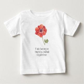 Camiseta De Bebé Si tenía una flor
