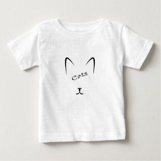 Camiseta De Bebé silueta de la cara del gato