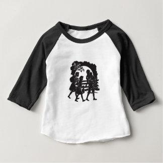 Camiseta De Bebé Silueta icónica de los niños del furgón