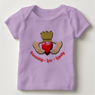 Camiseta De Bebé Símbolo del irlandés de Claddagh