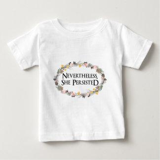 Camiseta De Bebé sin embargo ella persistió