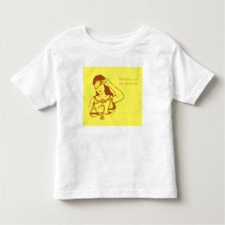 Camiseta De Bebé Sin embargo, ella persistió (amarillo) (el niño)