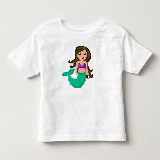 Camiseta De Bebé sirena del friki del pixel 8Bit