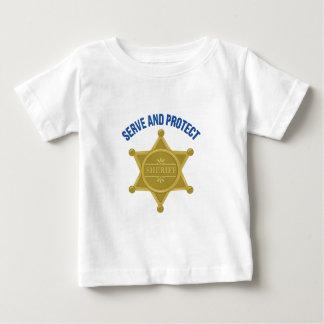 Camiseta De Bebé Sirva y proteja