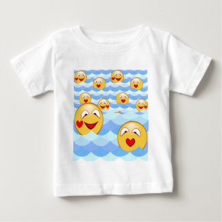 Camiseta De Bebé Smiley de la onda